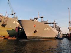 A 1413 Bonn (MMSI 211927000) (Parchimer) Tags: marine versorger militaryops hamburg reiherstieg norderwerft
