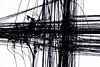 scratchie (daniel_james) Tags: 2018 canon6d tamron90mmmacro silom bangkok krungthep thailand southeastasia urban electricalwires abstract blackandwhite