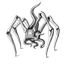 Wandering geometric oddity Ink drawing (ashley russell 676) Tags: wandering geometric oddity alien creature monster interdimensional entity illustration abstract drawing ink pen