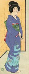Woodblock Print Envelope 1931 (1) (Blue Ruin 1) Tags: geiko geisha woodblockprint envelope hiranohakuho japanese japan showaperiod 1930s 1931 1932 bijinga
