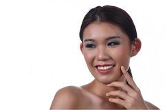 Beautiful smile (phangwaikheong) Tags: lady beauty beautiful whitebackground highkey portrait studioportrait