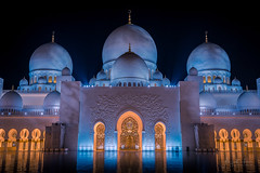 Sheikh Zayed Mosque, Abu Dhabi (ADFitz1967) Tags: sheikhzayedmosque mosque dome nightlight cityscape prayer arab islam arch portal abudhabi
