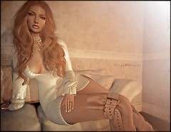 """""""...some women fear the fire, some simply become it."""" ~ r.h. sin (morganmonroe1) Tags: lumipro doux mimikri gos maitreya ginger freckles thighhigh sensual sexy soft redhead"""