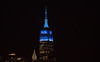 The Empire State Building is lit blue in honor of CECP and its Board of Boards. (apardavila) Tags: blueempirestatebuilding esb empirestatebuilding hoboken manhattan nyc newyorkcity blue skyline skyscraper