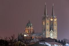 0710 Winter In My Hometown (Hrvoje Simich - gaZZda) Tags: outdoors city winter snow night cathedral church djakovo europe croatia nikon nikond750 sigma150500563 gazzda hrvojesimich