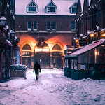 Walking in the snow - Dublin, Ireland - Color street photography thumbnail