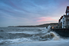 Sandsend Waves (Peter Richard Photography) Tags: sandsend waves longexposure whitby pinksky sunset roughseas roughwaves water sea wave bay sky ocean coast northyorkshire yorkshire