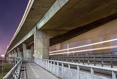 Doubledecker night   386.XXX   Petržalka - ÚNS (lofofor) Tags: prístavný most bridge ba bratislava úns petržalka prístav zimnýprístav pálenisko lávka night line 386 betón beton concrete doubledecker