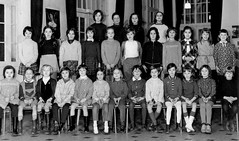 Class Photo (theirhistory) Tags: children kids girls dress skirt shoes jumper jacket wellies rubberboots class form school pupils students education