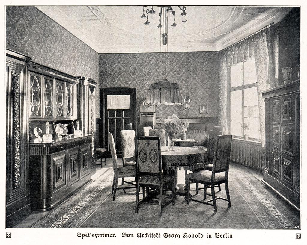 Berliner Zimmer Als Speisezimmer Eingerichtet 1913 (zimmermann8821) Tags:  Berlin Berlinerzimmer Design Deutscheskaiserreich Deutschesreich