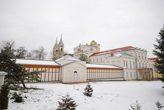 Ten Years & A Season (Istvan) Tags: zirc hungary tree road sky roof snow building abbey architecture