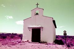 Calera Chapel (MegHan Seidel) Tags: calera chapel west texas tx travel tiny church lomochrome 35mm