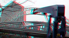 Station Blaak Rotterdam 3D (wim hoppenbrouwers) Tags: station blaak rotterdam 3d anaglyph stereo redcyan vervangen dakplaten