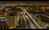 Glasgow City lights (Steven Mcgrath (Glesgastef)) Tags: glasgow scotland uk drone dji phantom 4 cowcaddens motorway aerial air sky lights city urban road centre west traffic high rise flats scottish brittish europe long exposure dundasvale