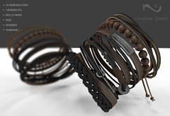 Native Urban - Handmade Bracelet (NativeUrban) Tags: nativeurban secondlife sl originalmesh 3d mom menonlymonthly assets bracelet leather handmade
