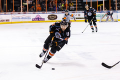 """Kansas City Mavericks vs. Florida Everblades, February 18, 2018, Silverstein Eye Centers Arena, Independence, Missouri.  Photo: © John Howe / Howe Creative Photography, all rights reserved 2018 • <a style=""""font-size:0.8em;"""" href=""""http://www.flickr.com/photos/134016632@N02/40387902601/"""" target=""""_blank"""">View on Flickr</a>"""