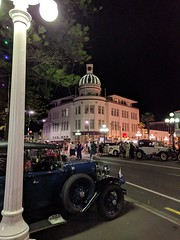 Art Deco by Night (Kevin Fenaughty) Tags: people outdoor building tg artdeco street car lamp tree night napier newzealand