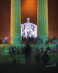 President Abraham Lincoln Monument at the Lincoln Memorial in Washington, D.C. (PhotosToArtByMike) Tags: lincolnmemorial washingtondc dc monument washington abrahamlincoln nation'scapital nationalmall neoclassicalmemorial uspresidentabrahamlincoln unitedstates neoclassicalmonument
