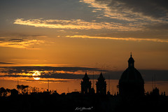 Zabbar Sunrise (glank27) Tags: sunrise zabbar malta church silhoutte skies dramatic europe architecture karl glanville canon eos 5d mkiv ef 70300mm f456l landscape peaceful town village birds