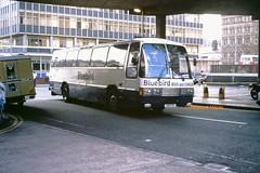 Dunstan (Bluebird), Moston 17 (VXP 717 ex A806 CCD) (SelmerOrSelnec) Tags: dunstan bluebird moston leyland tiger duple laser vxp717 a806ccd manchester majorstreet chorltonstreetbusstation southdown bus coach