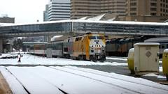 025 -1crpvibsh (citatus) Tags: via rail train london ontario toronto canada union station winter morning 2018 pentax k3 ii ge p42dc locomotive 909