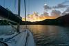 Sunrise in Kaiarara Bay (NettyA) Tags: 2018 aucklandregion greatbarrierisland mthobson nz newzealand northisland clouds sailing yacht sunrise haurakigulf kaiararabay water