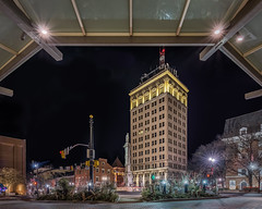 Griest Building, Lancaster, PA (Dustin Graffa) Tags: landscape landscapephotography hdr exposure blending lancaster lancasterpennsylvania lancasterpa pennsylvania down town center city mariott night nightphotography canon 6d mark ii tamron 1530 griest building wwgriest history historic