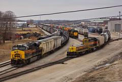 Silvis Yard (Trainboy03) Tags: iowa interstate iais 721 714 514 silvis illinois il