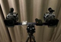 Hasselblad SWC Moderate Hyper-Stereo Rig (spiritusmentis) Tags: gitzo cube arcaswiss kb14 suunto novoflex rangemaster leica 3d stereo swc hasselblad