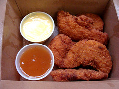 Chicken Tenders (knightbefore_99) Tags: chicken tenders johnb pub tasty coquitlam takeout takeaway lunch food work poulet sauce dip delicious great hot grub