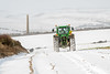 Work in the snow (tom ballard2009) Tags: shoreham sussex snow landscape farm field downs south southdowns tractor working work farming frozen green