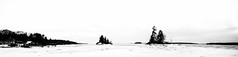 Winter Starkness (Me in ME) Tags: harpswell lookoutpoint maine sundown bw monotone panorama winter ice snow