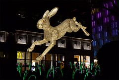 Lumiere - DSCF9566a (normko) Tags: london west end lumiere 2018 light show installation art leicester square hare nightlife lantern company jo pocock