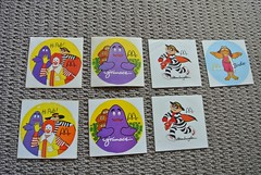Vintage McDonalds Stickers (jadedoz) Tags: mcdonalds vintage 80s 1980s australia birthday party hamburglar grimace birdie ronald pals stickers