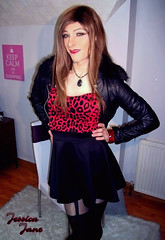 Red Leopard Day (jessicajane9) Tags: tv crossdress lgbt feminization crossdressing transvestite m2f tranny cd tgurl transgender crossdresser tg travesti xdress trans tgirl