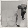 Man's Best Friend (ricko) Tags: man grandfather dog doubleexposure hipstamatic littledoglaughedstories