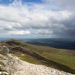 View inland from the ridge of Croagh Patrick County Mayo Ireland thumbnail