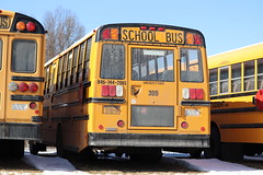 First Student #309 (ThoseGuys119) Tags: firststudentinc schoolbus pinebushny thomasbuilt dslr canon eos77d winter sunlight beautiful snow