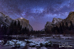 Milky Way over Valley View, Yosemite NP (JusDaFax) Tags: yosemite nationalpark california valleyview night sky mailkyway stars snow winter wanderlust travel astrophotography universetoday milkyway astrophoto astrography nightsky nightscaper starphotography starscape longexpoadditction udogsky landscapecaptures awesomeearth milkywaychasers natgeospace starrynight longexposure iclongexpo fslongexpo davesoldanoimages
