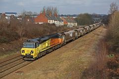 Getting ready for the climb (DieselDude321) Tags: 70809 class 70 colas rail 6v49 1014 leeds stourton rmc briton ferry yard moorthorpe west yorkshire clayton frickley south