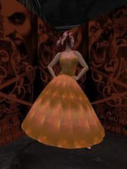 Summer Dress - Galaxy - Orange_001 (hmkagm) Tags: maitreya with flexy skirt silver dragon summer flowers pleated
