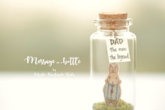 Dad the man, the legend,Tiny message in a bottle,Miniatures,Personalised Gift,Love Card,Valentine Card,Gift for Dad/him, birthday card, message card and father's day card ideas (charles fukuyama) Tags: rabbit bunny cuteanimals handmadecard greetingscard holidaycard paper art unique miniaturescard homedecor deskdecor hase lapin coniglio ウサギ illustration kikuike anniversarycard