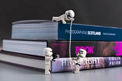 Thick (syf22) Tags: books thick measure lego stromtroopers starwar minifigures fun amuse amusing tall high team teamwork