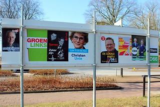 Heerenveen election poster billboard