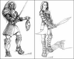 Gladiator - Ambiorix and Horace (hinxlinx) Tags: gladiator fighter warrior male character sword gladius lion colosseum arena