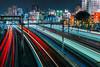 Tokyo Electric #1 (petestew) Tags: tokyo japan long exposure railway rail jr line subway lines night cityscape streaks
