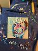 SP in progress (Gila Mosaics n'stuff) Tags: gilamosaics workinprogress mosaic smalti portrait selfportrait tools