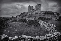 Stone Wall Castle (rick miller foto) Tags: remnants ancient blackandwhite stonewall stone castle hilltop ireland galway aranisland