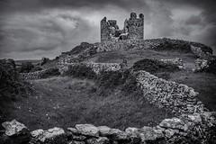 Stone Wall Castle (rick miller foto) Tags: remnants ancient blackandwhite stonewall stone castle hilltop ireland galway aranisland