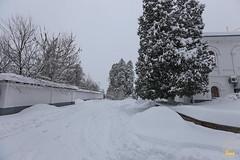10. Зима в Святых Горах. Уборка снега 23.01.2018